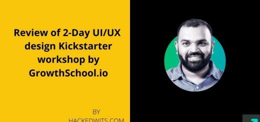2 Day Review of UX Kickstarter workshop